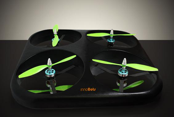 innoFly, one of innoBots's unmanned mobile and lightweight drones that can provide surveillance for the military or law enforcement agencies.