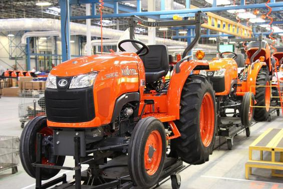 Kubota's new facility will produce 22,000 tractor units per year, including the L3800 model.