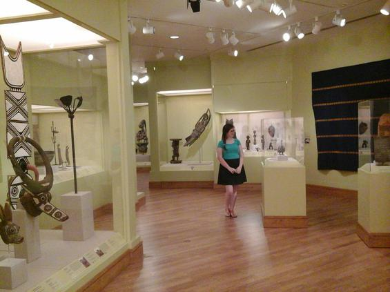 Anna Democko, a museum studies student at Georgia College, tours the African exhibition at the Birmingham Museum of Art.