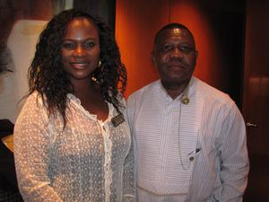 American-Nigerian chamber President Emelia Orubele, left, with Nigerian Consul General Geoffrey Teneilabe.