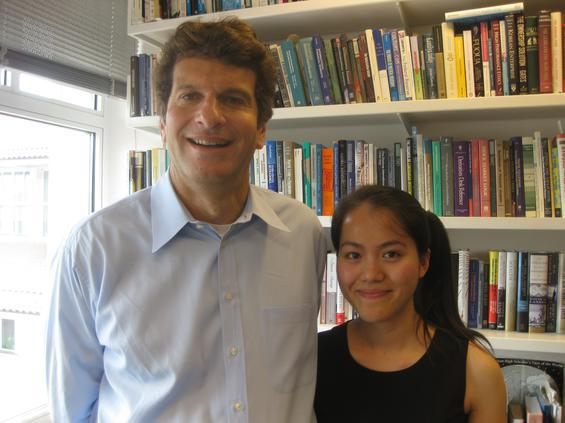 Goizueta Business School Prof. Jeffrey Rosensweig who is mentoring Ly Le, a graduate student at Emory from Vietnam.