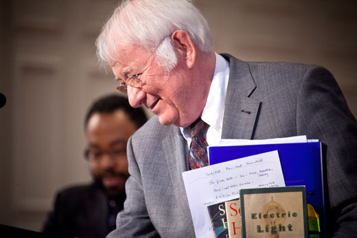 Seamus Heaney during a visit to Emory University