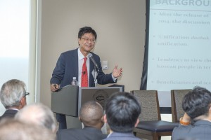 Jaechun Kim of the Sogang Institute encourages thinking about a unified Korea.