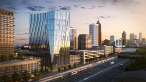 """NCR plans to put a state-of-the-art headquarters with a street-level """"urban living room"""" to welcome pedestrians and a fitness center and market for employees on a private floor."""